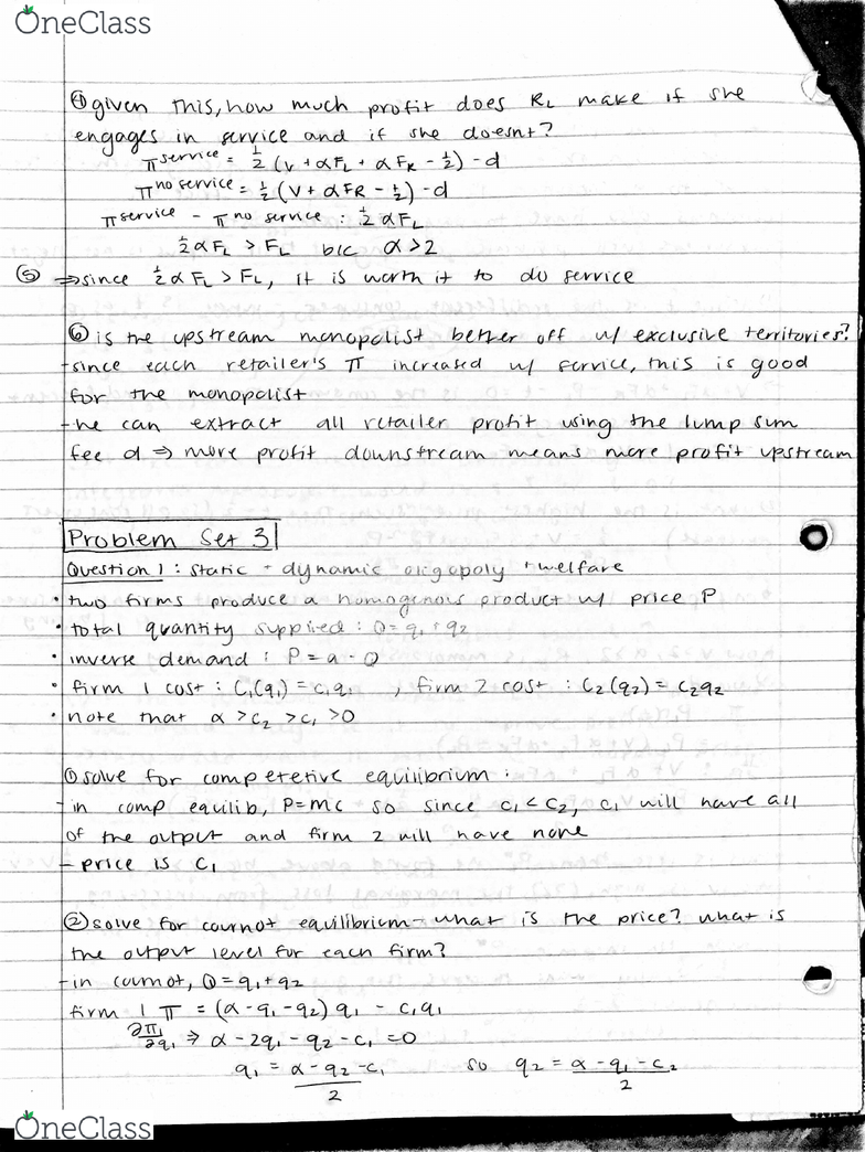 ECON 170 Final: Answers and SG for Problem Sets 3-5 - OneClass