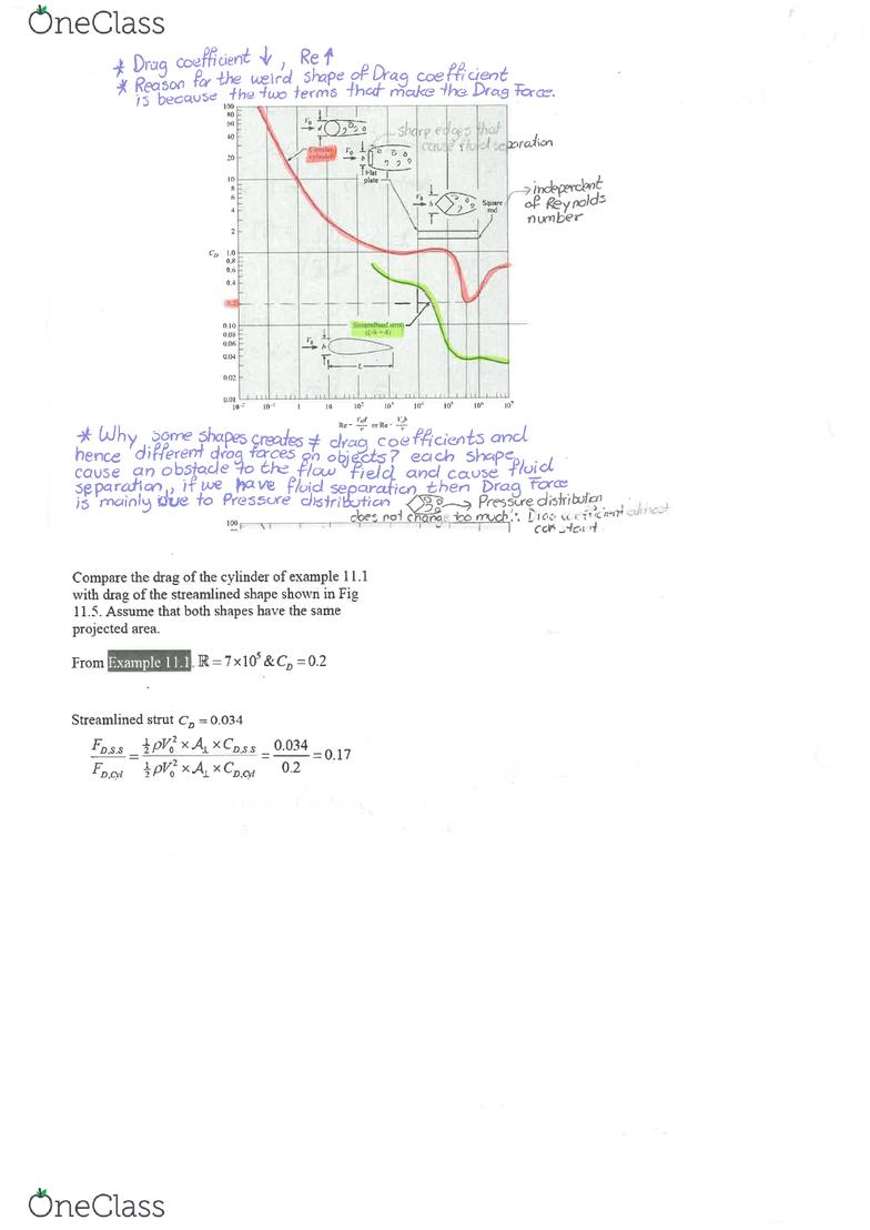 CIVL2131 Lecture 10: CIVL2131-Drag Forces - OneClass