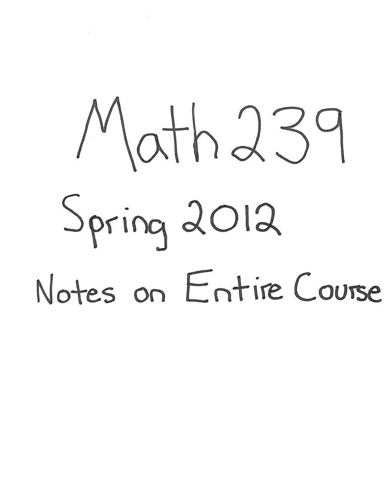 Math Notes Pdf