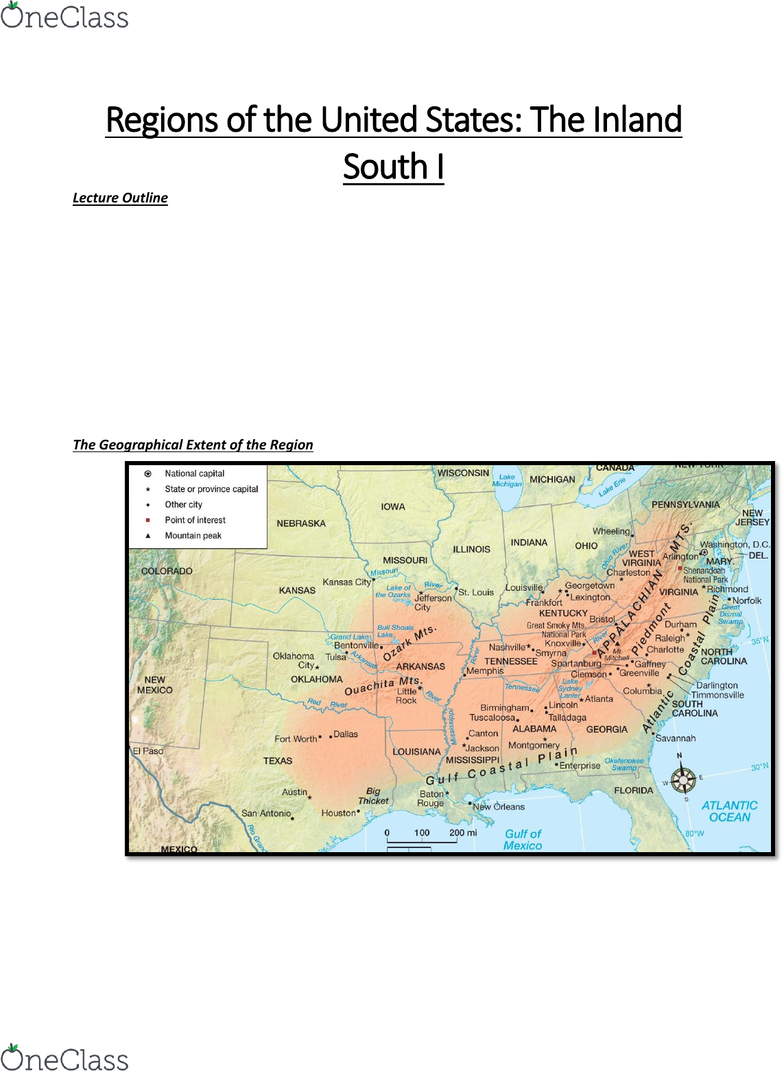 Geog 2ru3 Lecture Notes Winter 2019 Lecture 14 Ozarks