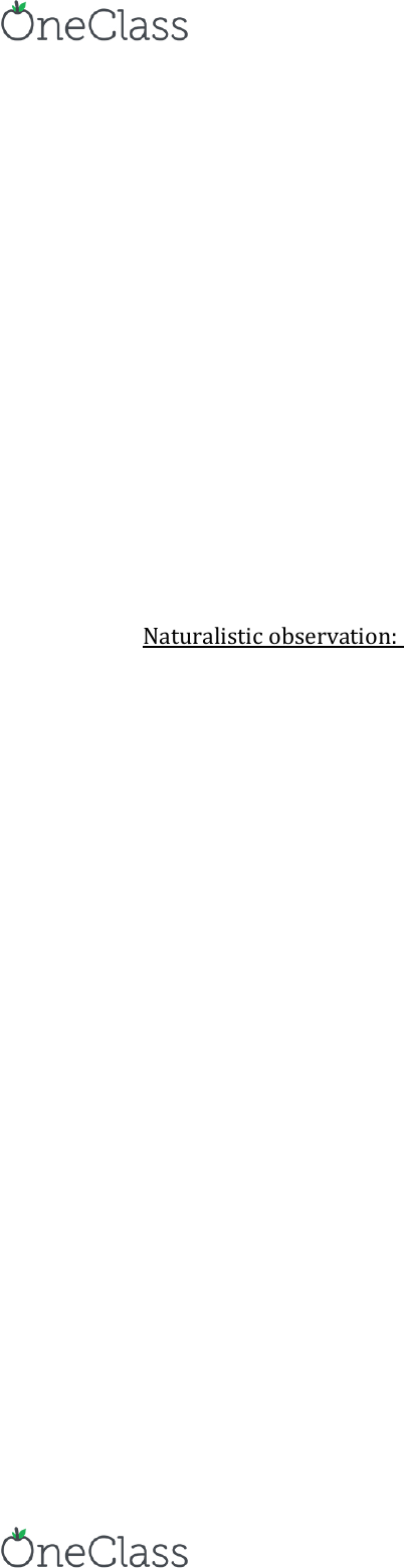 naturalistic observation method