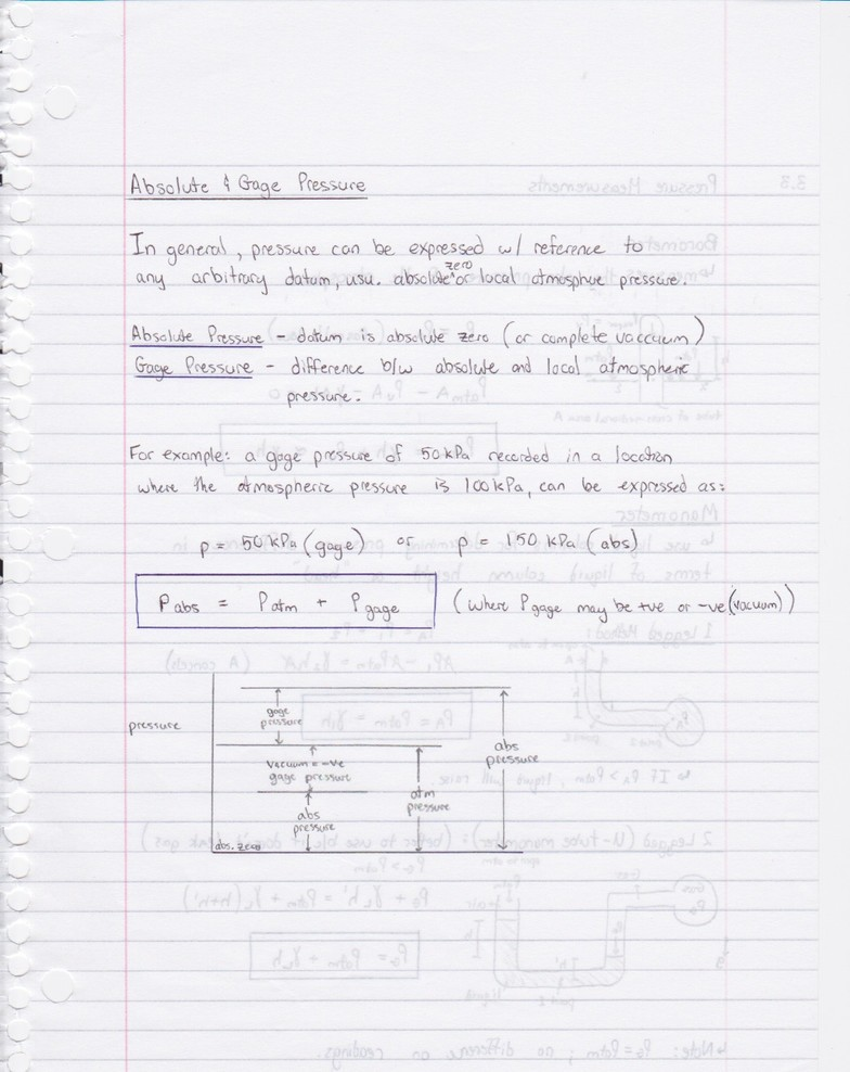 2O04 - Ch 3 Fluid Statics - Absolute & Gage Pressure pdf - OneClass