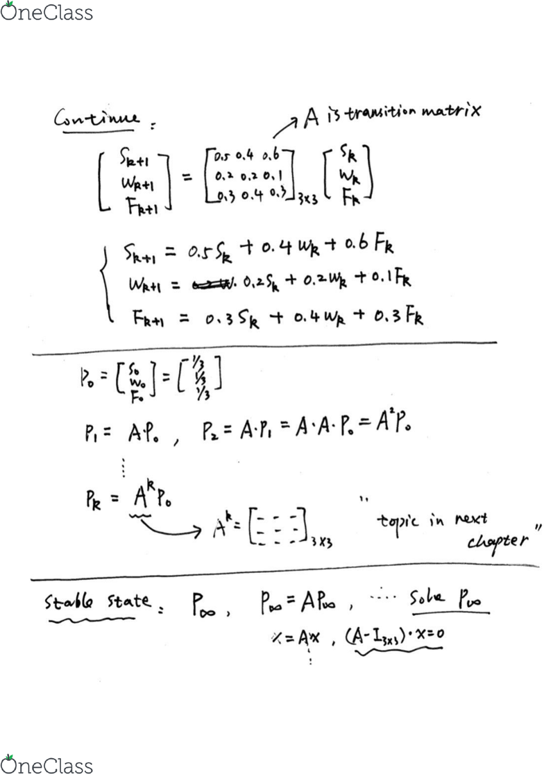 MATH 152 Lecture Notes - Winter 2019, Lecture 43 - Transpose