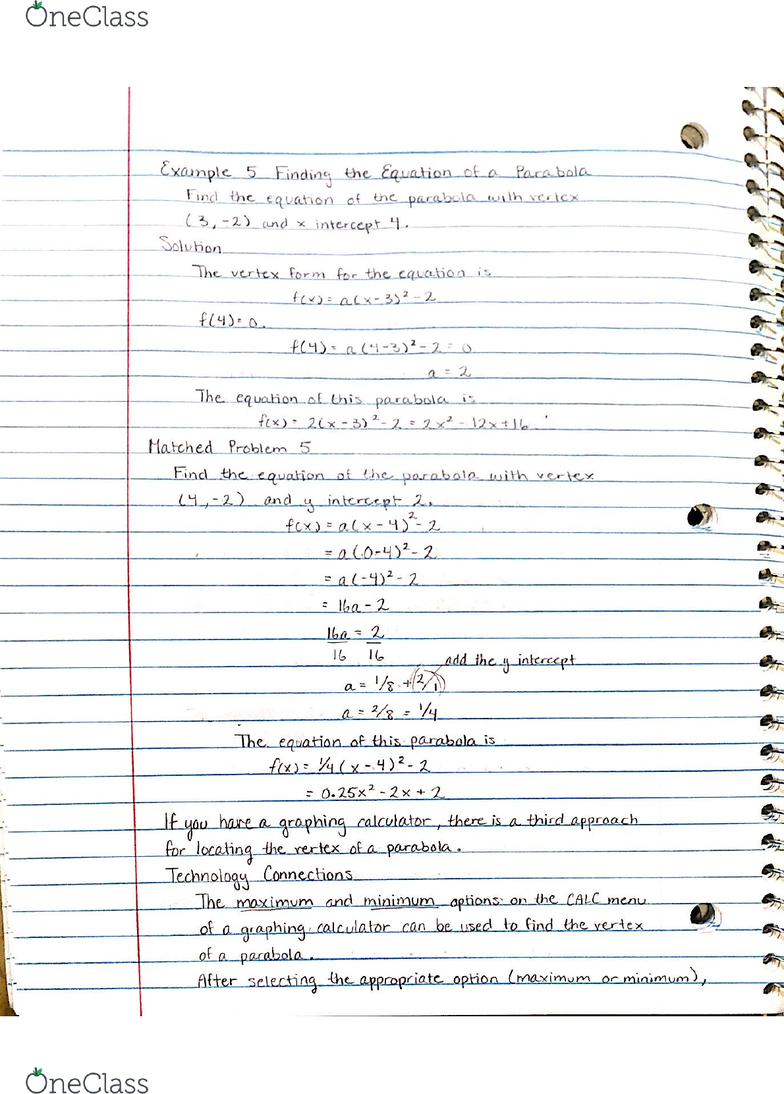 MATH 050 Textbook Notes - Spring 2018, Chapter 3 - Vehicle