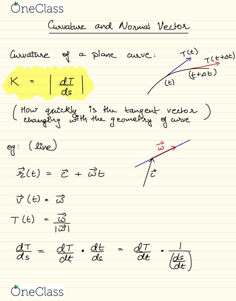 MAT 21D Lecture 16: MAT 21D-LEC 16-Tangent unit vector, Curvature