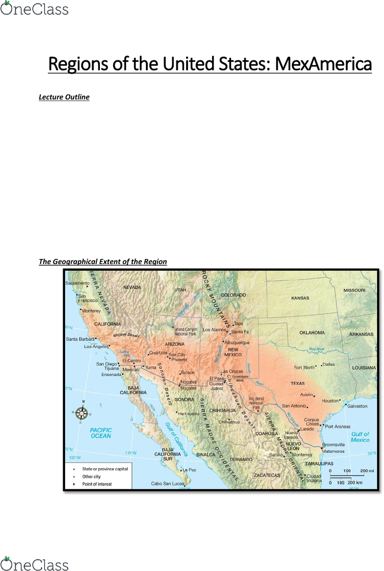 GEOG 2RU3 Lecture Notes - Winter 2019, Lecture 22 - Mexican Cession ...