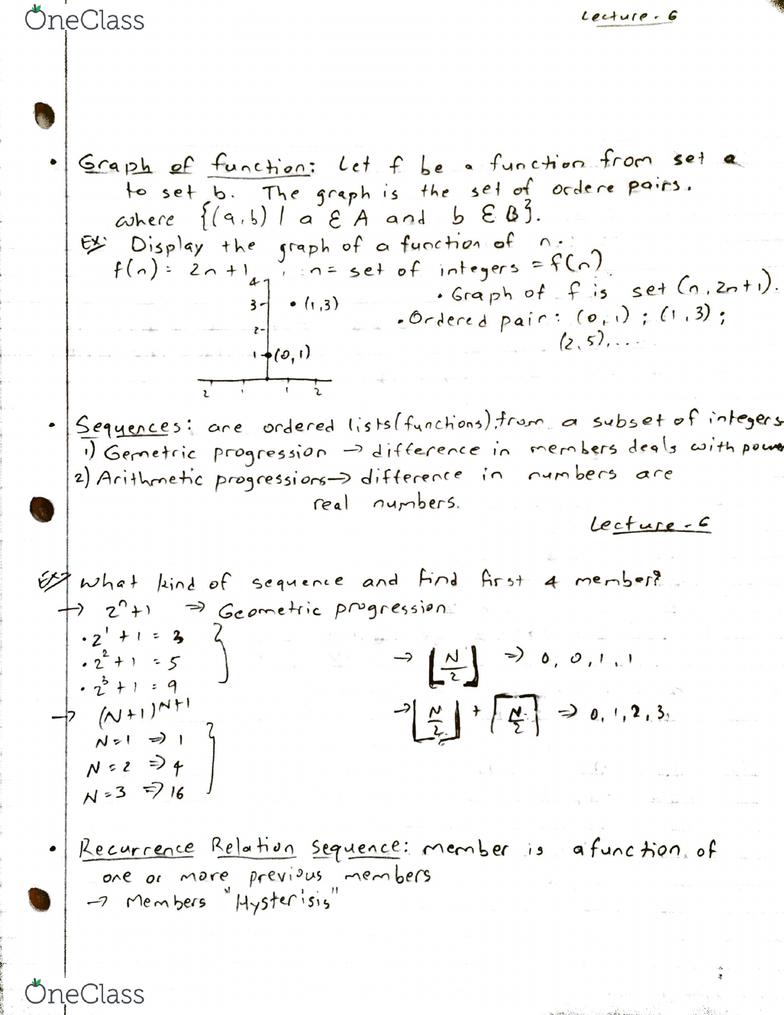 14:332:312 Lecture 6: Discrete Math - Lecture 6 - OneClass