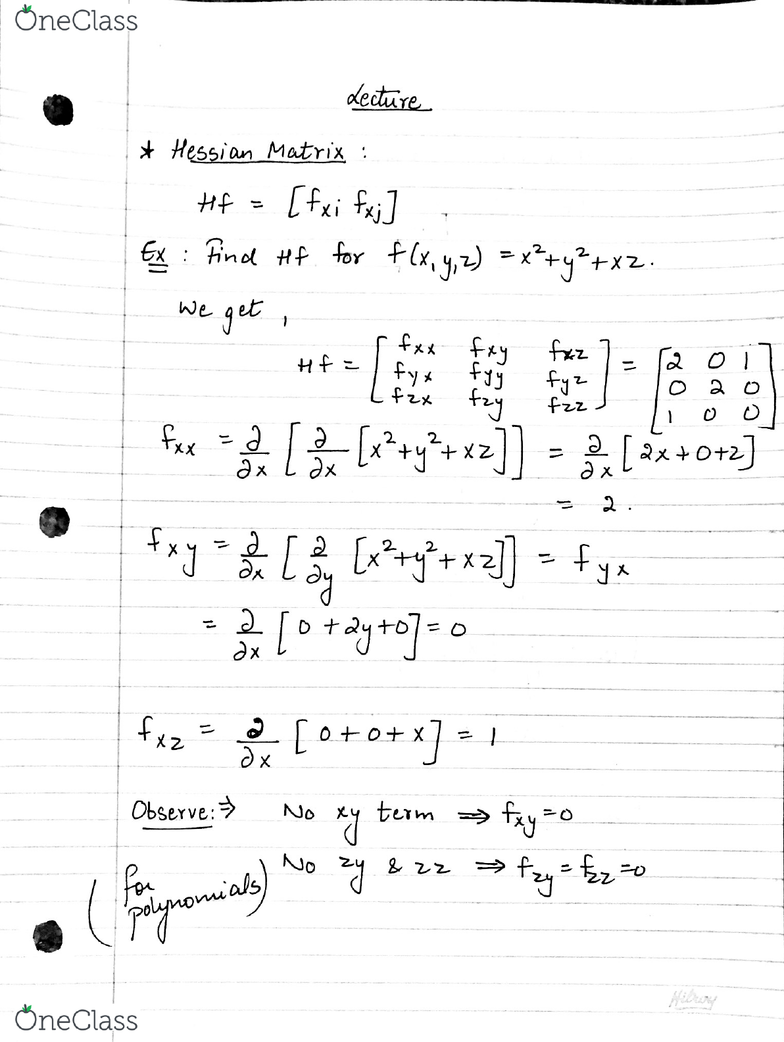 MAT133Y5 Lecture 24: multivariable calculus - OneClass