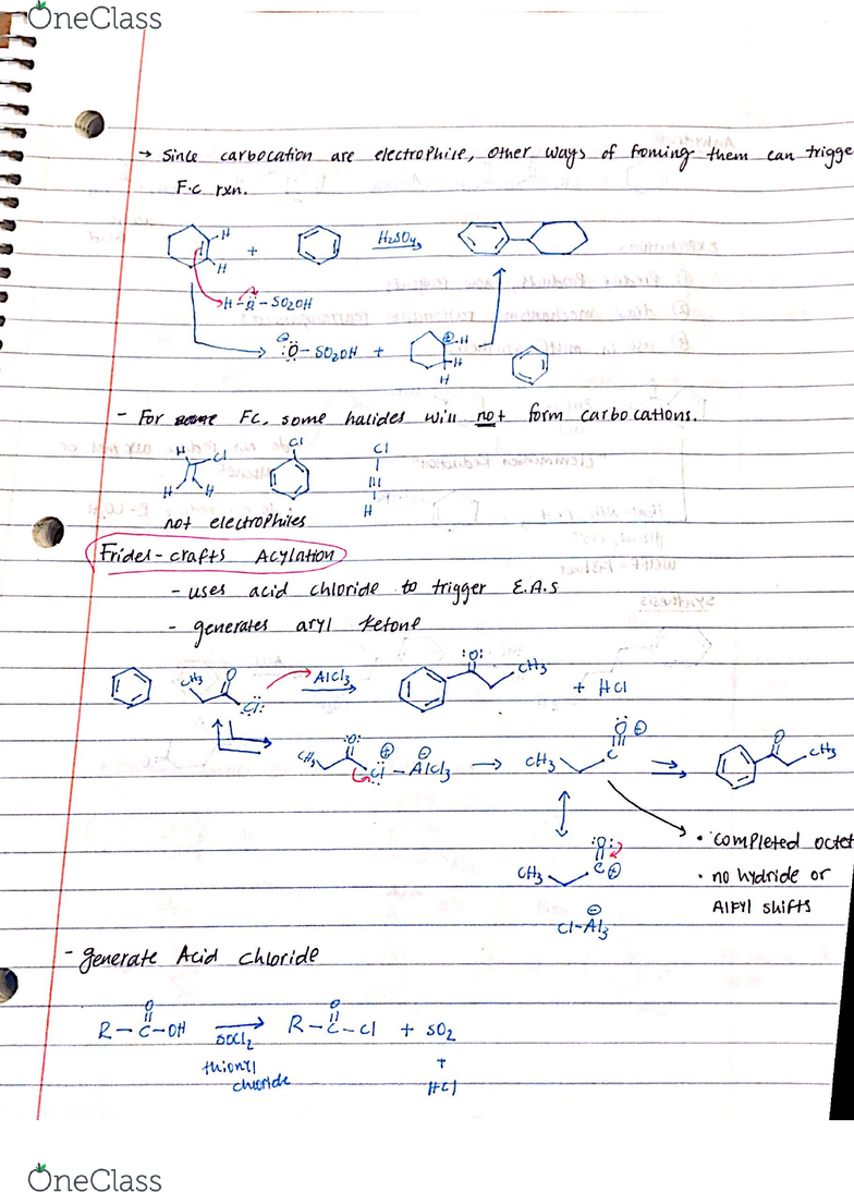 CHEM 2302 Lecture 3: Friedel Crafts Reactions and Reductions
