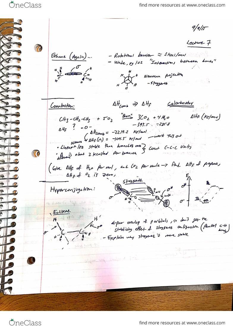 L07 Chem 261 Lecture Notes - Lecture 7: Mopane