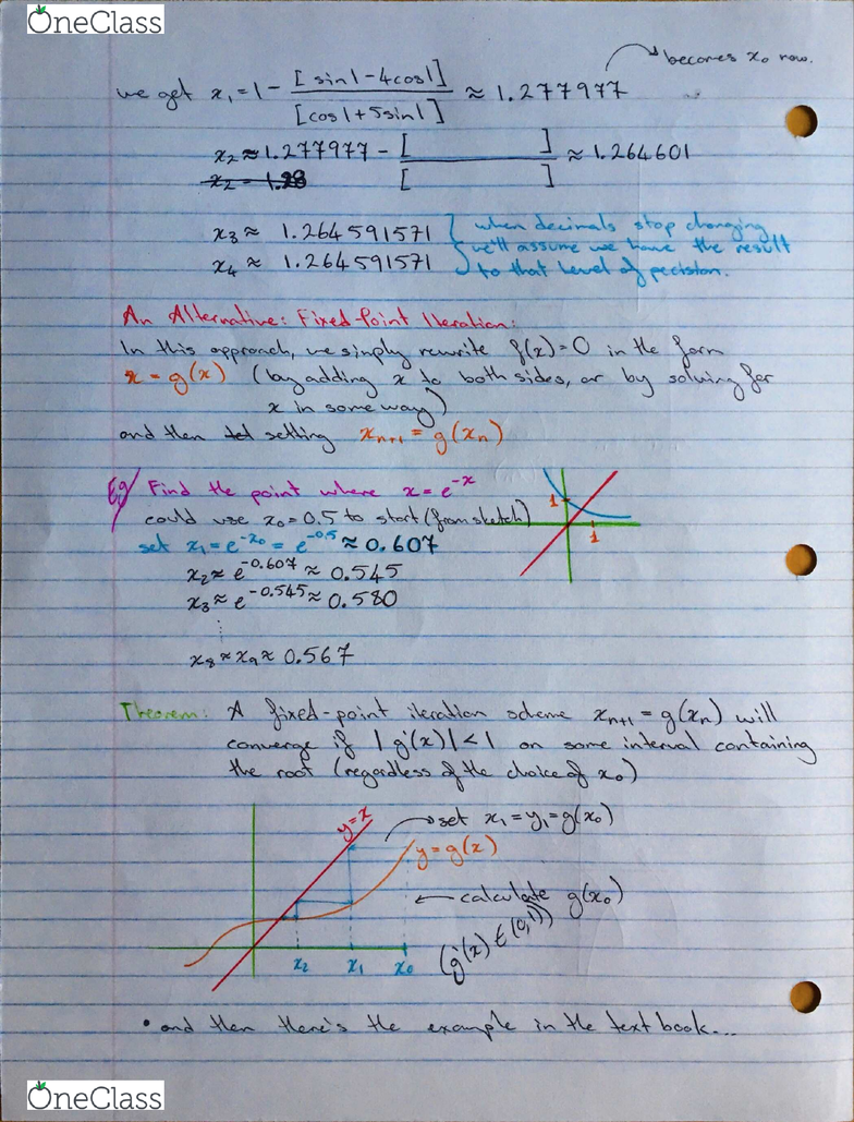 MATH 119 Lecture 2: Newton's Method Continued, Fixed-Point