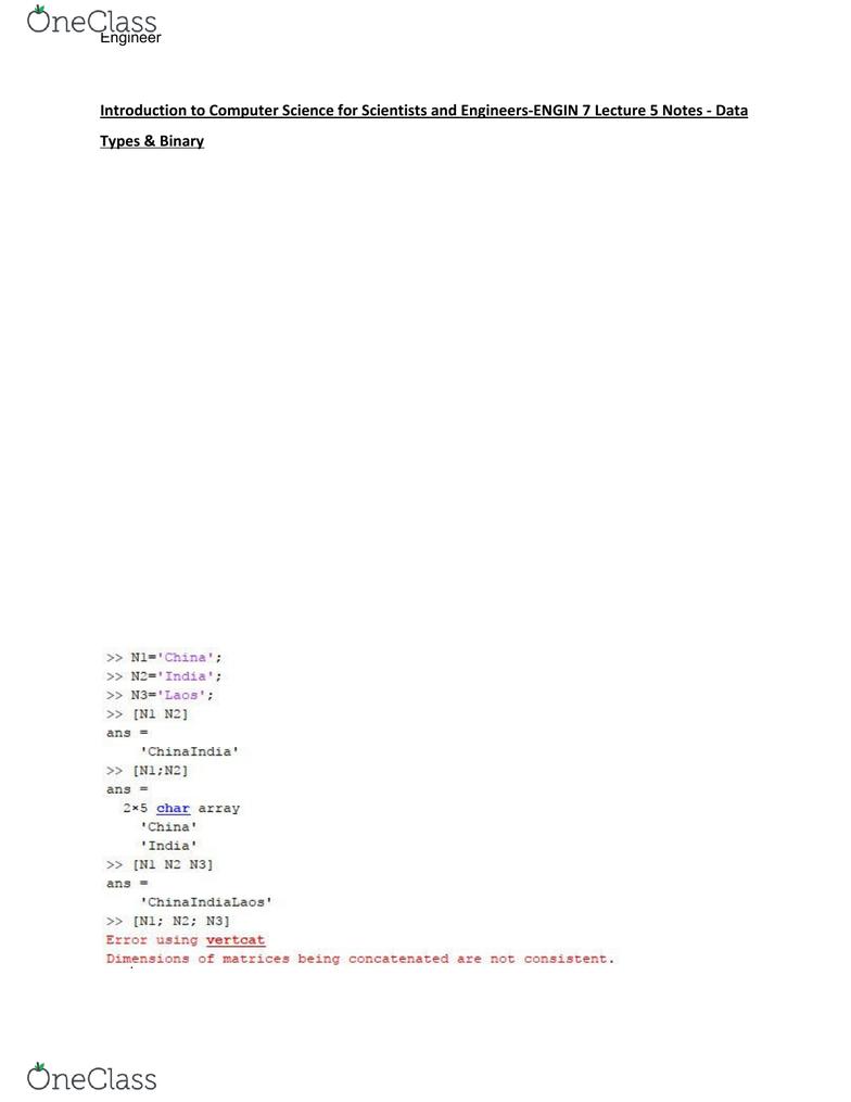 error using vertcat