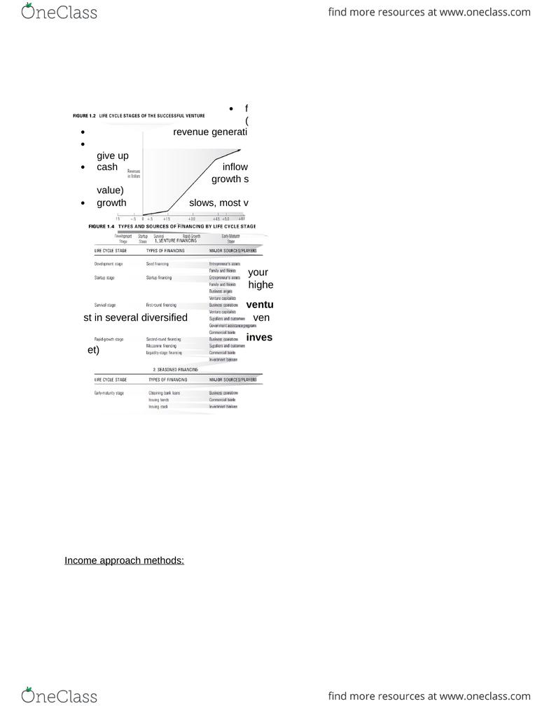 BU121 Study Guide - Winter 2015, Final - Cash Flow