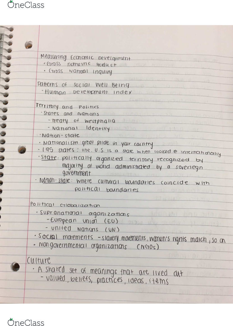 GEOG 1982] - Midterm Exam Guide - Everything you need to