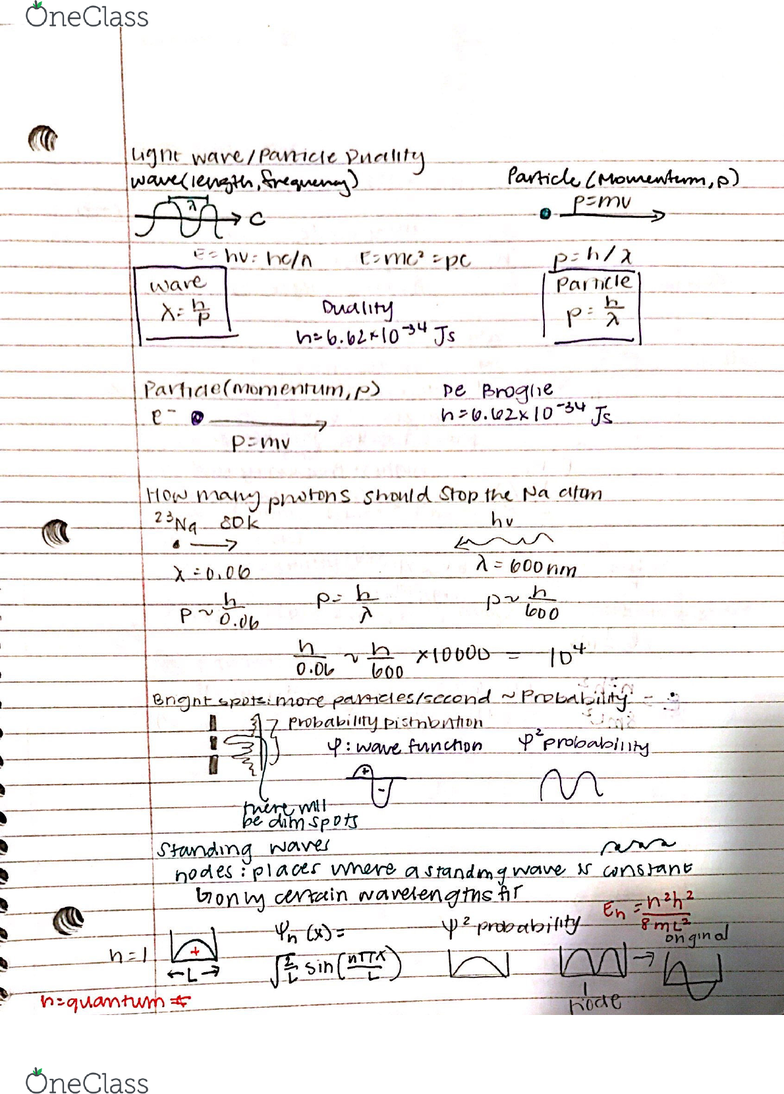 CHEM 1A Lecture 5: Light Waves and Particle Duality