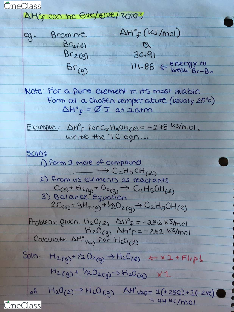 CHEM 1050] - Final Exam Guide - Comprehensive Notes fot the exam (36