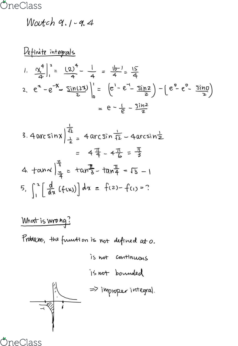 MAT137Y1 Lecture 42: the fundamental theorem of calculus 2