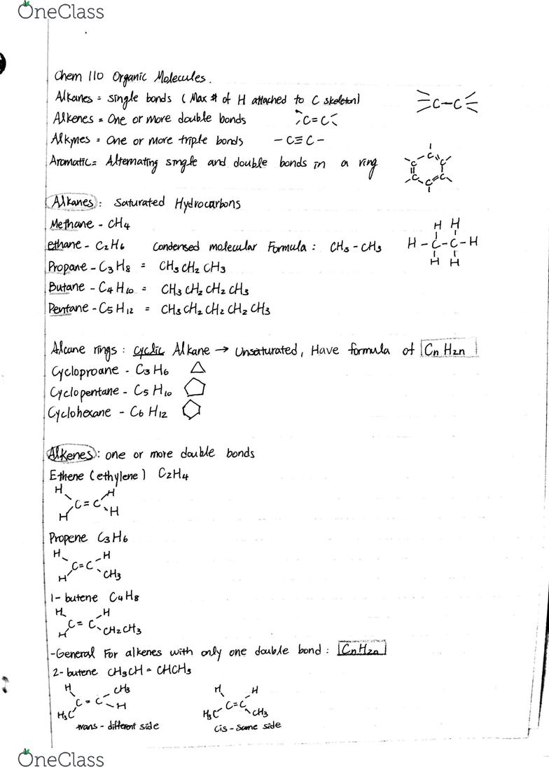 CHEM 110 Study Guide - Fall 2016, Midterm - Alanine, Amide