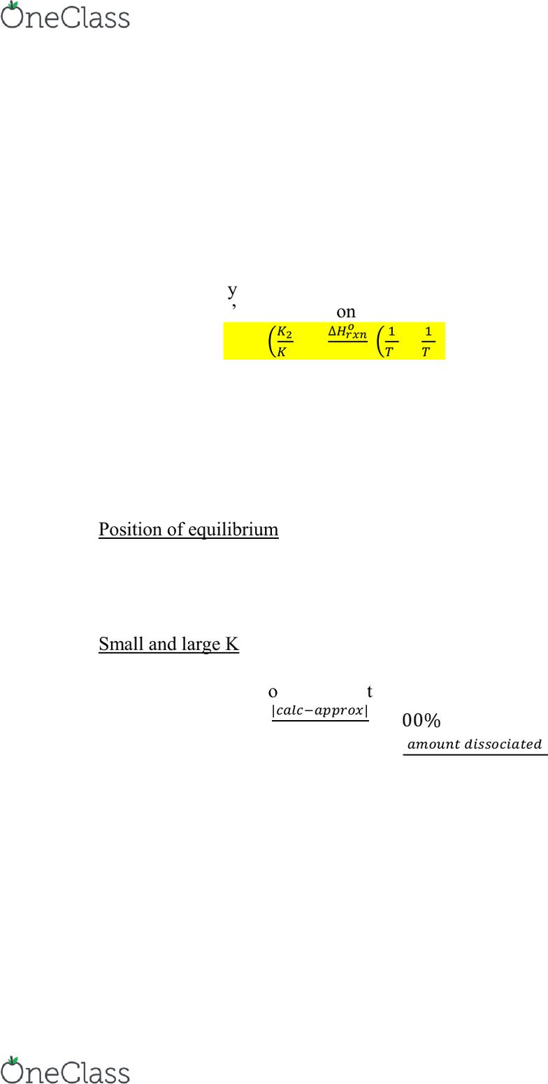 CHEM105 Study Guide - Winter 2016, Final - Reaction Quotient, Inert