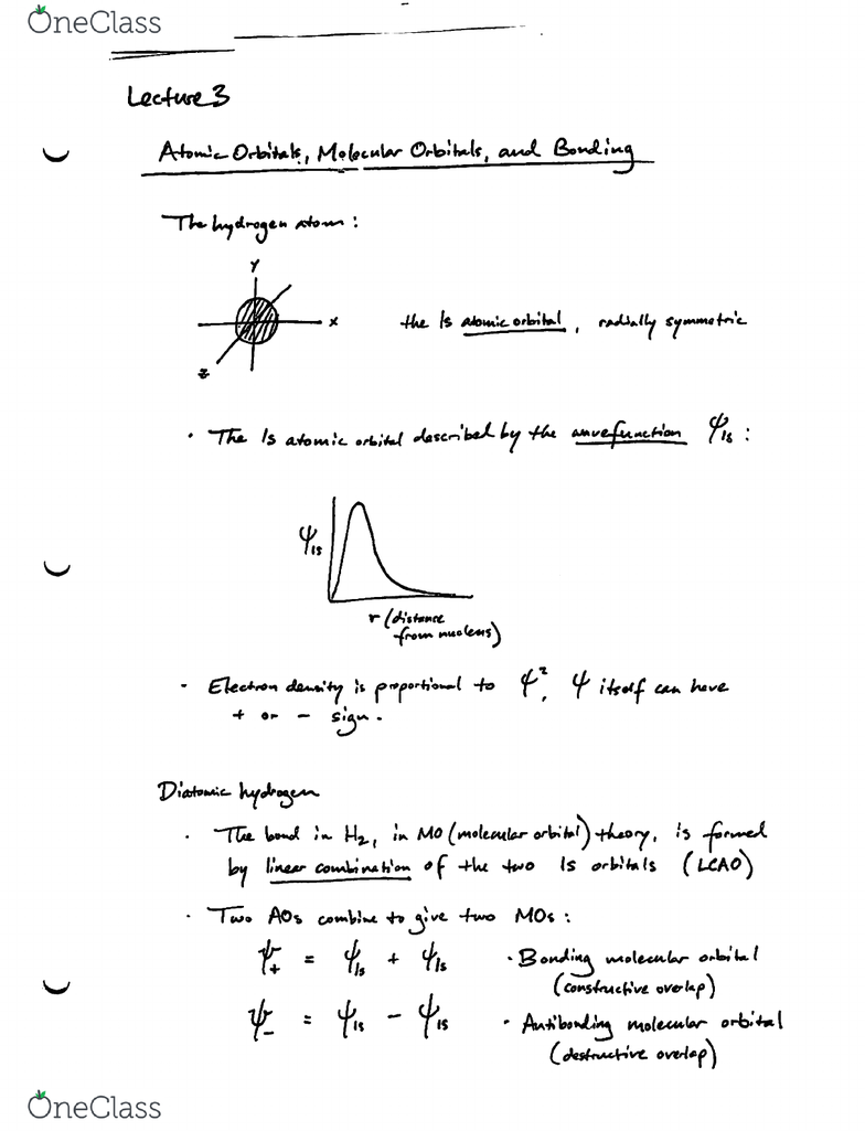 Chemistry 20 Lecture Notes - Fall 2013, Lecture 3