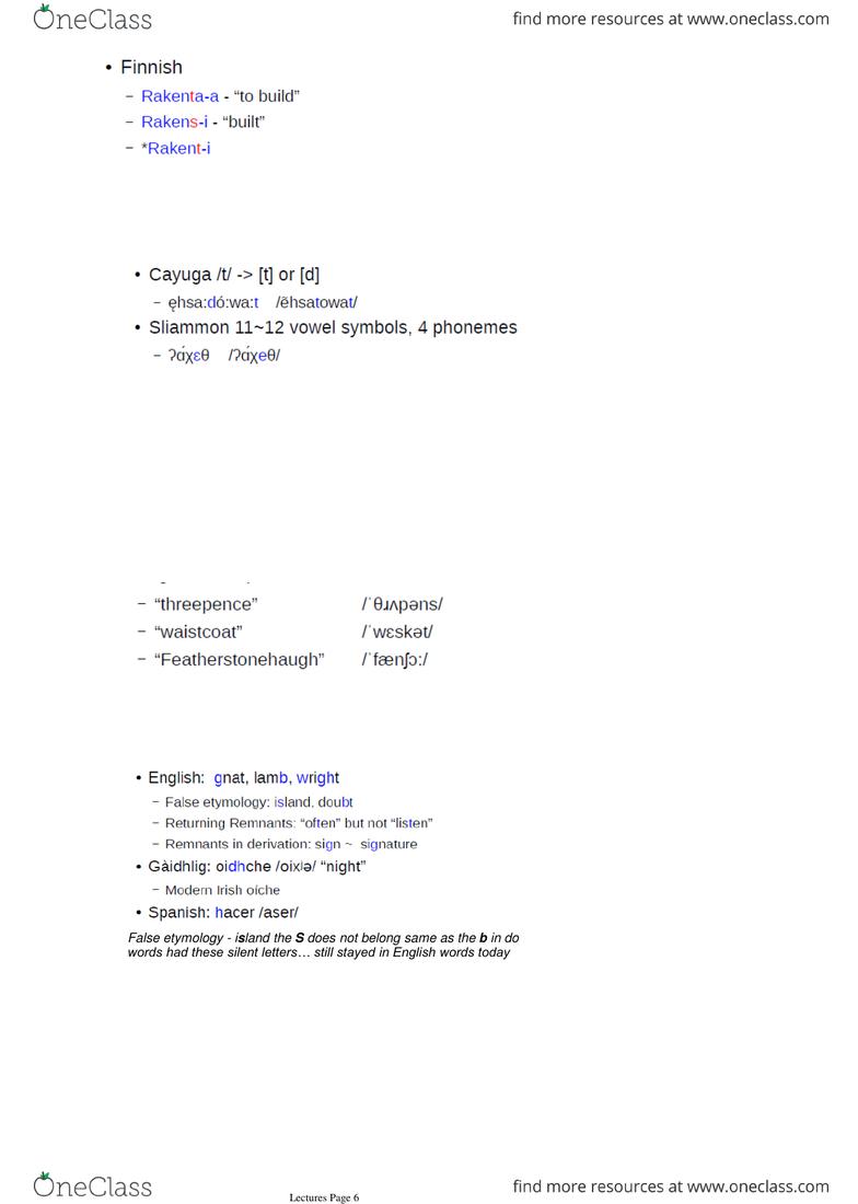 JAL328 Lec 8 The Alphabet - OneClass