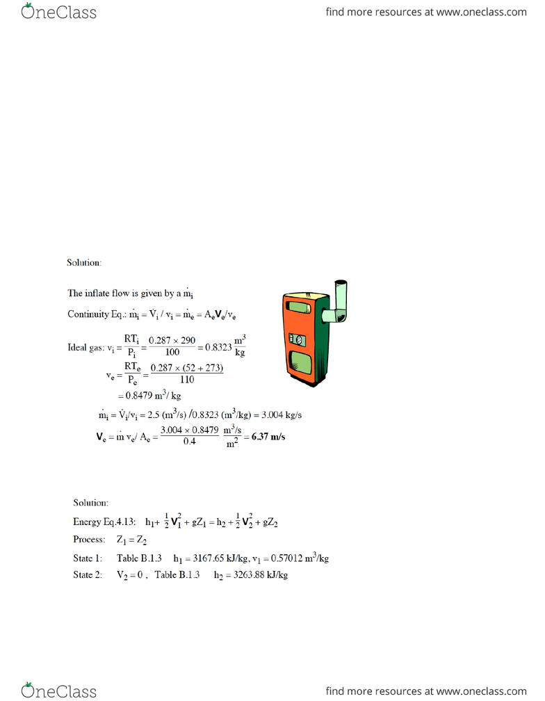 MECHENG 235 Lecture Notes - Winter 2014, Lecture 6 - Air Compressor