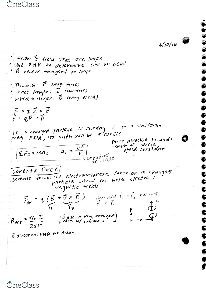 PHYSICS 3B Lecture Notes - Lecture 18: Terce
