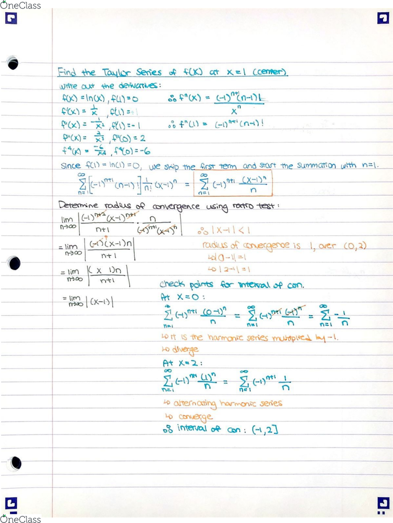 MAT187H1 Chapter 5 2: Taylor and Maclaurin Series (Binomial