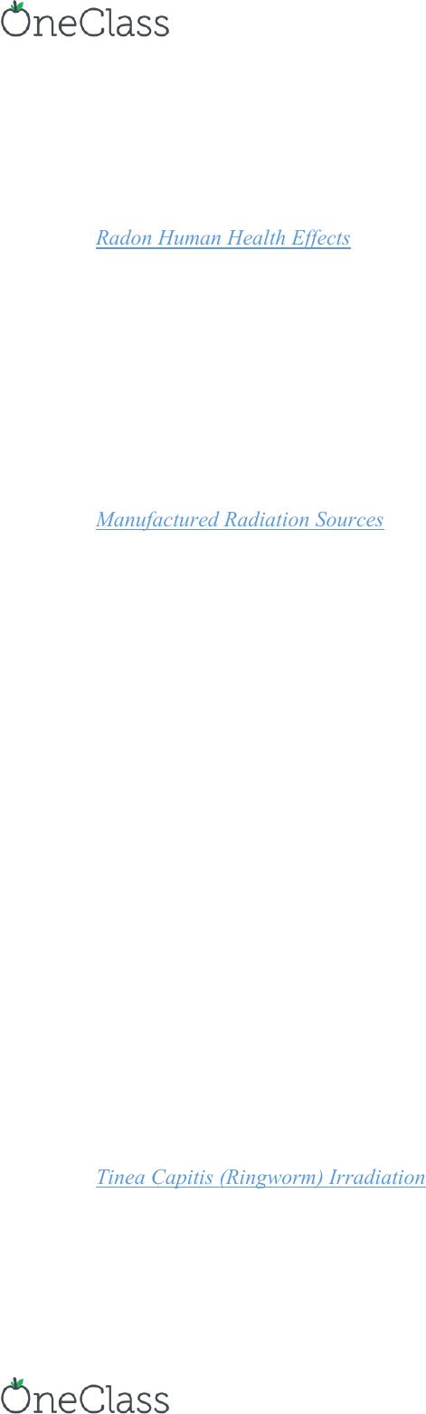 ENSC 201 Lecture Notes - Lecture 4: National Toxicology Program, Ionizing  Radiation, Background Radiation