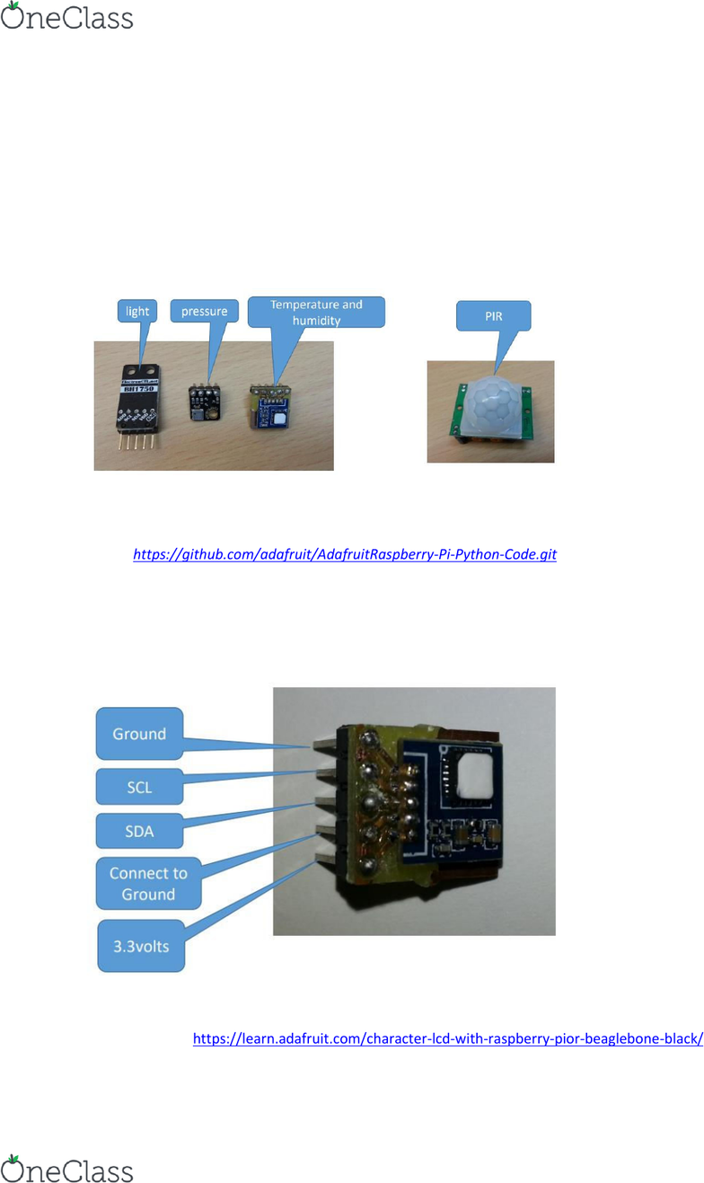 IFB102 Lecture Notes - Lecture 11: Photodetector, Passive Infrared Sensor,  Raspberry Pi