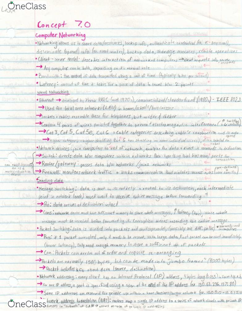 EECS 1520 Lecture 13: EECS 1520 Computer Networking PDF
