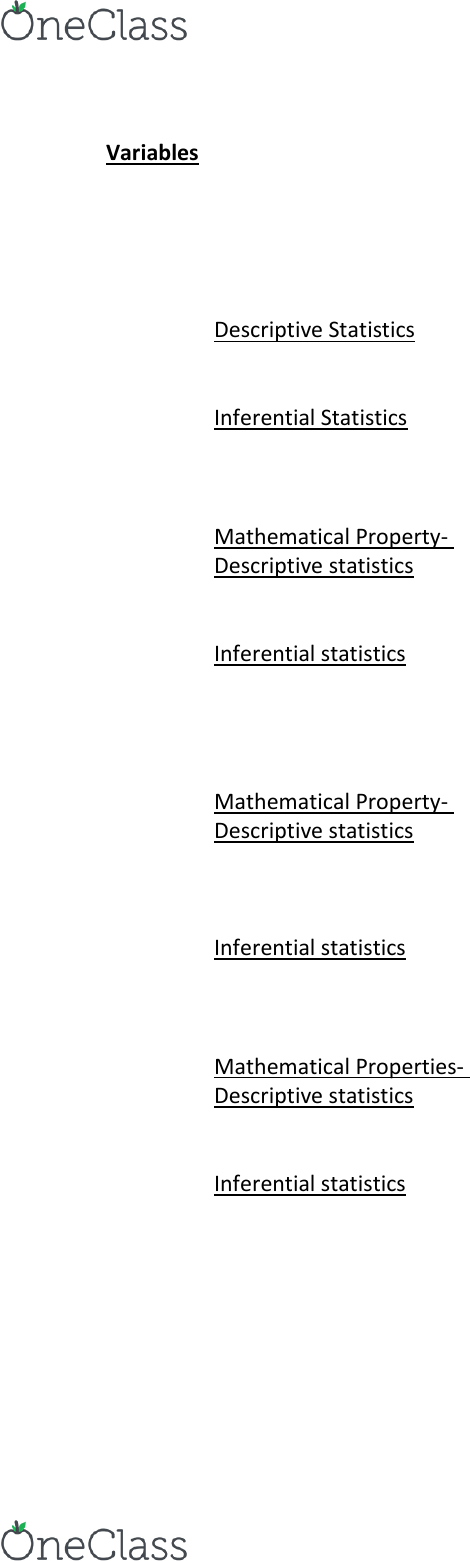 PSYC 2101 Lecture Notes - Lecture 14: Statistical Inference, Binomial Test,  Descriptive Statistics
