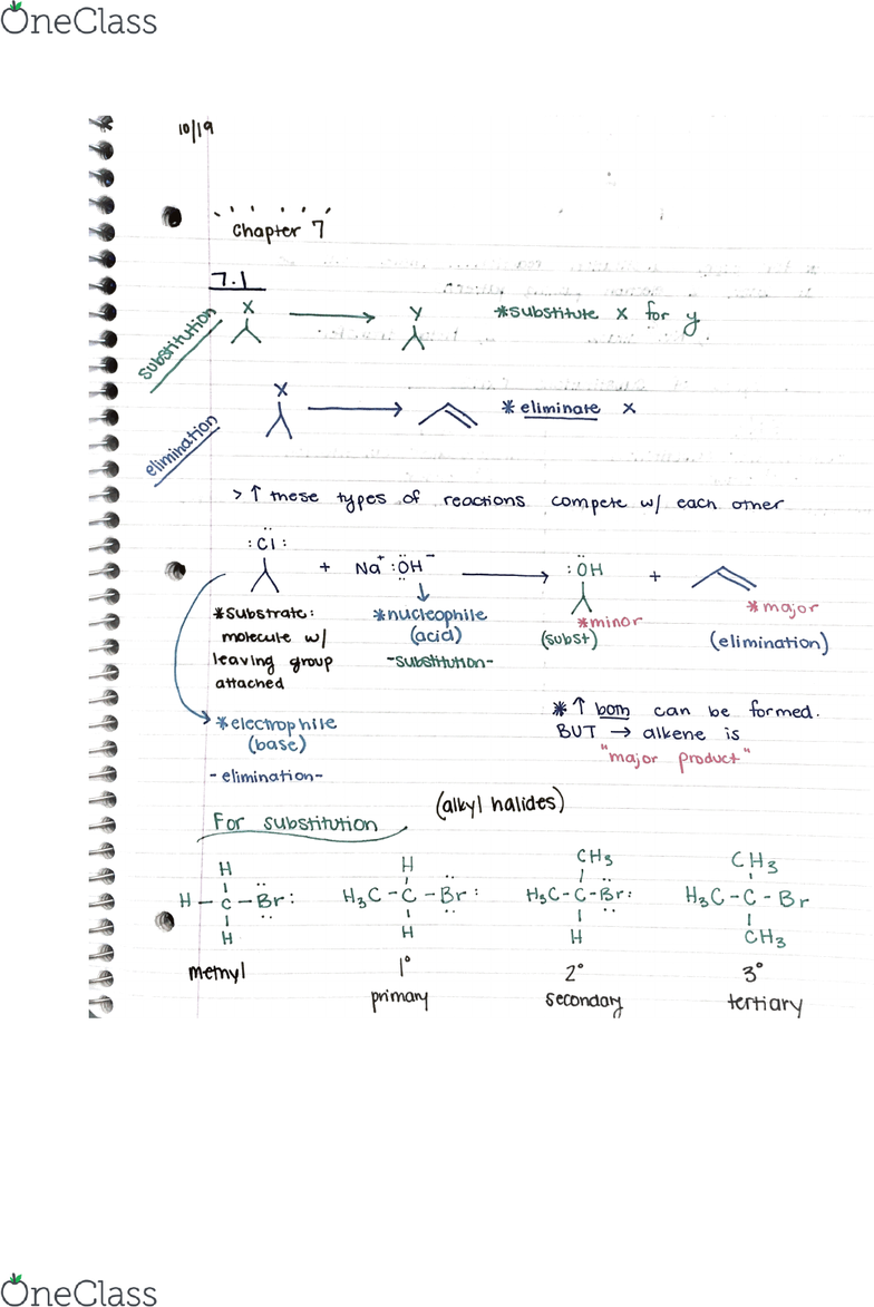 CHE 230 Lecture Notes - Fall 2017, Lecture 12 - Dimethyl Sulfoxide