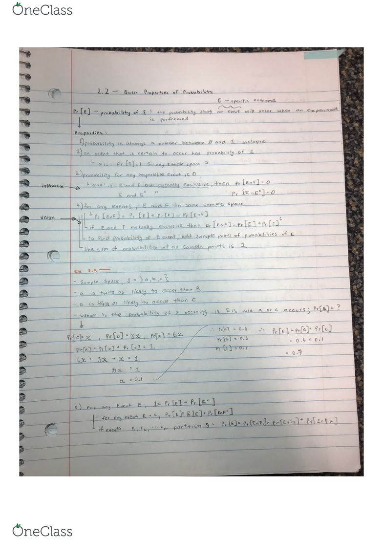 Mathematics 1228ab Lecture 11 22 Basic Properties Of Probability