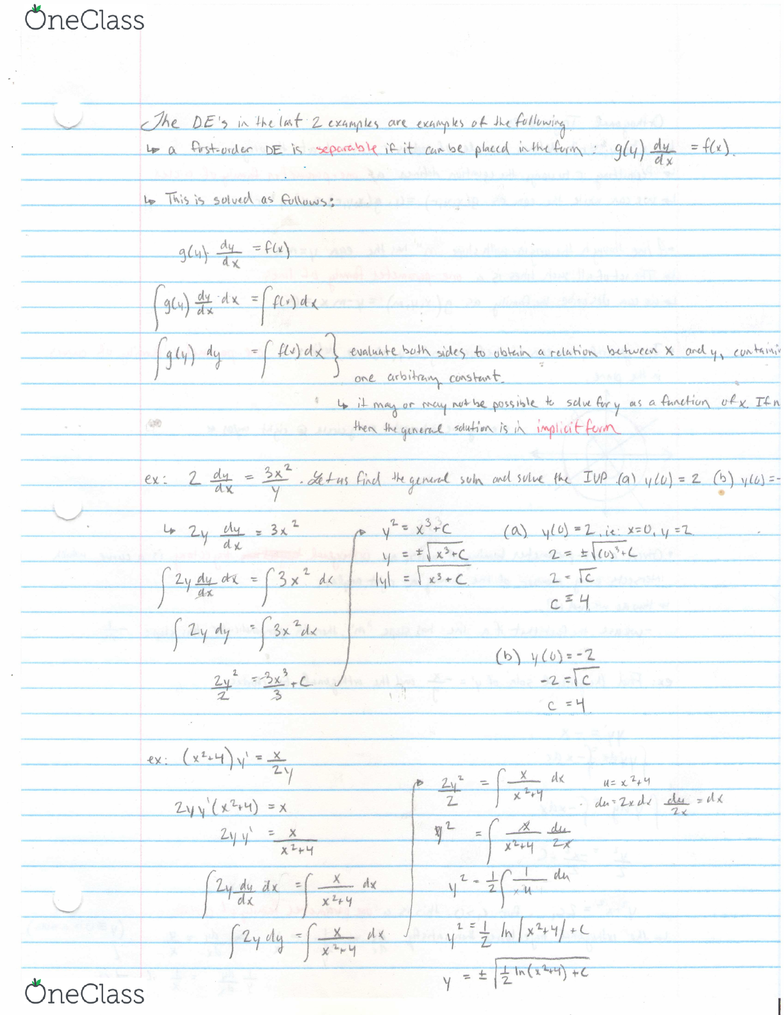 MATH 1005 Lecture 1: MATH 1005 Note 1 PDF - OneClass